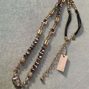Chico's Long Crystal Beaded Fashion Necklace